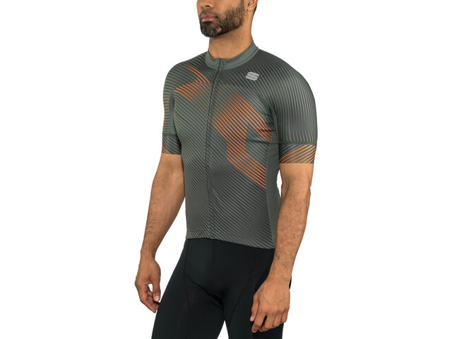 Sportful Bodyfit Team 2.0 Faster Jersey Herren dry green/orange sdr